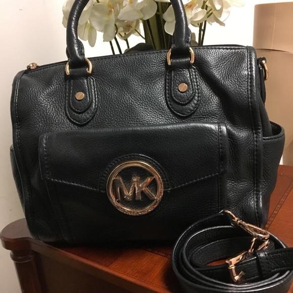 ca8671587682 Michael Kors Vintage Fulton black leather handbag.  M 5a34a59531a376a72f02c4d9